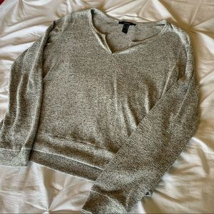 Cozy and soft notch neck sweater
